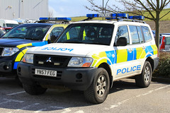 South Yorkshire Police Mitsubishi Shogun Roads Policing Support Unit (PFB-999) Tags: car support force south yorkshire police vehicle leds operations roads shogun mitsubishi ops grilles unit strobes lightbar syp yn57feg