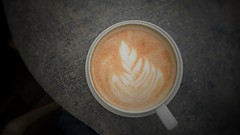 Coffee time (Chris.Sampson) Tags: cup coffee leaf cafe drink geometry circles latte saucer froth sonyz5