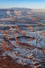 Snowscape (East Wind) Tags: statepark winter snow utah desert canyon canyonlands moab deadhorse lasalmountains sidelight