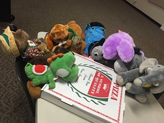 I'm starving! Can we eat now? (scotchplainspubliclibrary) Tags: animal stuffed sleepover scotchplains scotchplainspubliclibrary