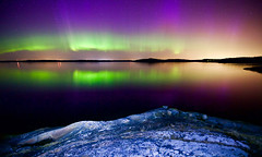 Sunstorm hits the planet Tellus (Edgar Myller) Tags: light sea sky water finland stars long exposure paint ghost photograph aurora planet timetravel cosmos sunstorm borealis tellus lightpaint porkkala revontuli top20aurora
