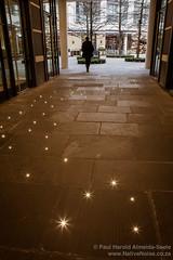 Illuminated Walkway on Denman Place, London