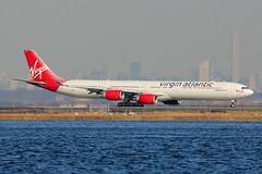 "G-VWEB | Airbus A340-642 | Virgin Atlantic ""Surfer Girl"" (cv880m) Tags: newyork jfk airbus kennedy a340 virginatlantic bayswater vir surfergirl 346 340600 kjfk gvweb"