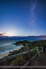 Milky Way at Moonrise from Nambucca Heads (Amazing Sky Photography) Tags: ocean beach nightscape australia southerncross moonrise nsw moonlight crux nambuccaheads pointers milkyway captaincooklookout