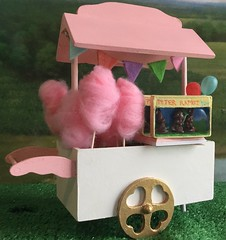 Candy cart :-) (bumbledaph) Tags: pink rabbit girl doll candy chocolate banner craft mini peter cotton american ag cart maryellen
