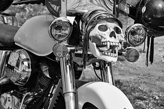 mEnTaLiTy (cdn.slacker) Tags: blackandwhite bw white black monochrome bike canon honda skull flickr group motorcycle biker fangs groups outlaw portdalhousie mentality april24th 7dmarkll