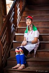 Long Woman on the Stairs 2607 (Ursula in Aus - Away) Tags: portrait burma karen myanmar inlelake hilltribes hilltribe environmentalportrait karlgroblphototour