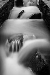 On the Rocks (John fae Fife) Tags: blackandwhite bw water monochrome rocks luxembourg weir alzette xe2 fujifilmx