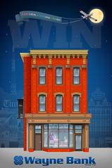 On & On Illustration for Shop Local Initiative (Justin Roach Work Stuff) Tags: illustration advertising design graphicdesign bank batman scranton nepa brucewayne 570 waynebank