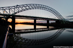 Runcorn Bridge (Brian Sayle) Tags: longexposure nightphotography bridge sunset silhouette architecture night dark lowlight darkness nightshot nighttime 7d 1740 merseyside widnes rivermersey canon1740 runcornbridge ef1740mmf4l eos7d canoneos7d canon7d runcorm