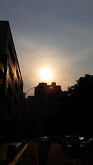 (jumppoint5) Tags: city light sunset urban sun silhouette shadows estate dusk flare