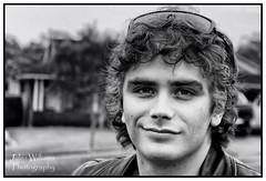 My son (juliewilliams11) Tags: portrait people blackandwhite monochrome border son depthoffield photoborder