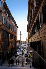 Coucher de soleil sur Rome et la colonne de Trajan - Sunset over Rome and Trajan's Column