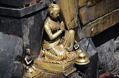 Praying Statue (Jgunns91) Tags: travel nepal travelling religious temple nikon asia peace buddhism wanderlust explore discover natgeo swayumbhunath
