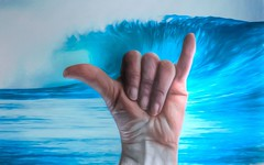 Hang Loose Dude! (Jo-Back To The 80's Again!) Tags: wallpaper hawaii surfer culture hangloose odc bigwave shakasign