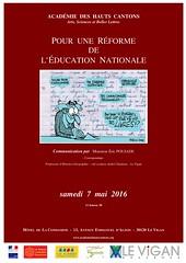 AHC_2016_05_07_affiche_Poujade (Acadmie des Hauts Cantons) Tags: education eric des acadmie le vigan gard nationale languedocroussillon hrault cantons lodve hauts poujade rforme