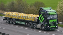 YK64 LKE (panmanstan) Tags: truck wagon mercedes motorway m18 yorkshire transport lorry commercial vehicle mp4 flatbed langham haulage actros