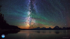 "Night Sky Airglow - Grand Teton (IronRodArt - Royce Bair (""Star Shooter"")) Tags: nightphotography lake nightscape jackson nightsky grandtetons tetons universe nightscapes milkyway tetonrange grandtetonnationalpark airglow starrynightsky"