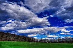 Clouds over the Goals, 2016.04.02 (Aaron Glenn Campbell) Tags: sky clouds colorful pennsylvania vibrant sony vivid sigma lehman hdr nepa bmr luzernecounty backmountain mirrorless athleticfields a6000 emount macphun 19mmf28exdn sonyalpha6000 ilce6000 3ev aurorahdrpro backmountainregionalrecreationalcomplex