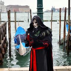 Crow Mask, Venice, Italy (darmoval) Tags: travel carnival venice red italy black mask lagoon crow carnevale venezia