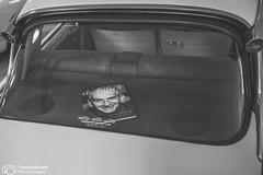 Citren beim Season Opening im Lenkwerk (thendele) Tags: auto cars car blackwhite citroen autoshow oldtimer sw autos bielefeld bnw youngtimer seasonopening louisdefunes schwarzweis lenkwerk