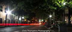 IMG_6761 (c.thompkins87) Tags: longexposure nightphotography cars exposure downtown littlerock cityscapes citylights arkansas streaks downsouth rivermarket lightstreaks deepsouth theflash redcars marketdistrict