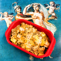 Leftover pork quinoa congee (garydlum) Tags: rice au australia pork potato quinoa canberra phillip congee australiancapitalterritory