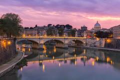 Roma (Luca Libralato) Tags: bridge sunset rome roma clouds river cityscape ponte tevere sanpietro castelsantangelo libralato canon1635 canoneos6d lucalibralato