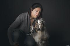 (Cristina Laugero) Tags: light portrait dog chien couple duo australian perro aussie owner sheperd