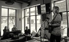 Cafe Blanca Open Mic (Sherlock77 (James)) Tags: people musician woman calgary guitar openmic