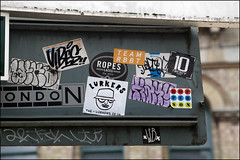 Wiko, Vibes, Lurkers... (Alex Ellison) Tags: urban graffiti sticker boobs tag vibes graff smc southlondon rt wiko thelurkers