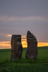 Zwei Steine / Two Stones (thunderbird-72) Tags: abend frankreich fr spaziergang abendrot abendstimmung abendlicht launstroff steineandergrenze alsacechampagneardennelorraine alsacechampagneardennelorrain