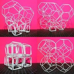 Lattice transformation (mike.tanis) Tags: art geometric architecture design crystal geometry structure cube lattice sodalite deployable transformable truncatedoctahedron