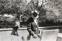 AA032EDIT (heavyasmountains) Tags: nyc newyorkcity blackandwhite slr film 35mm photography nikon candid streetphotography noflash 24mm fm3a filmphotography streetstyle