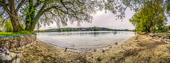 Sandbank (Ukelens) Tags: light shadow panorama water photoshop lights schweiz switzerland licht stream wasser shadows swiss pano schaffhausen fluss altstadt oldtown lightshow rhein schatten hdr lighteffects lichter lightroom lighteffect steinamrhein lichteffekte lichteffekt hdrphotography ukelens