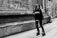 I'm not a princess I'M A ROCK STAR (Silver Machine) Tags: street girl sunglasses lumix outdoor candid skating streetphotography oxford oxfordshire rollerblades lumixg lumixg20mmf17 lumixg5