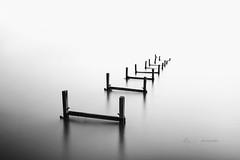 Broken way .. (zakies) Tags: longexposure water blackwhite wooden asia quote infinity inspired mini malaysia oldjetty portdickson outstanding zakiesphotography brokenpasirpanjang mohdzakishamsudin