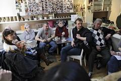 /// Roland & Roland /// (Yves Andre Photography) Tags: friends brussels art coffee caf bar artist belgium belgique belgie bruxelles social roland histoire brussel dialogue amiti haute koffie bistrot bna hoogstraat humain recyclart marollen christl ruehaute marolles chocomelk pintje dirkseghers bbot stamcafe friendschip villedebruxelles ilovebrussels rfuge gleo bnabbot vincenbeeckman stadvanbrussel recyclartartcenter leezing genevievedamas
