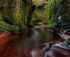 Finich Glen aka Devil's Pulpit, Drymen, near Loch Lomond Scotland UK - Louise Tee & Robin Tang @wzylouisey Instagram (weezylouisey) Tags: mountains nature scotland scenery redriver lochlomond devilspulpit louisetang finichglen