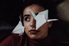 Paper crane (juliaballesbar) Tags: origami crane papercrane papiroflexia