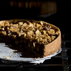 this one failed (MyArtistSoul) Tags: food reflection square pie crust walnuts minimal apples marzipan 7289