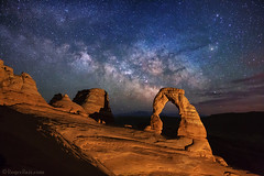 "Milky Way over Delicate Arch (IronRodArt - Royce Bair (""Star Shooter"")) Tags: nightphotography stars nightscape arches archesnationalpark delicatearch nightscapes starrynight milkyway starrynightsky"