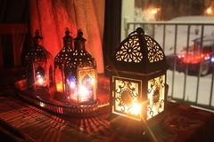 Boho Decor Candle Lanterns in Winter (blackunigryphon) Tags: winter decorations snow candles newengland lanterns snowing lantern decor bohemian bohochic bohostyle bohodecor