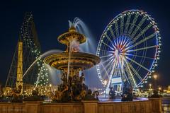 Ferie nocturne place de la Concorde (Christian@94) Tags: paris france ledefrance fr placedelaconcorde granderoue oblisque fontainedesmers