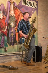 KV Solo January 23, 2016 [2 of 3] (jwbeatty) Tags: chicago illinois artgallery pentax jazz photoaday saxophone clarinet project365 kenvandermark pentaxart k5ii corbettvsdempsygallery imrpvisedmusic