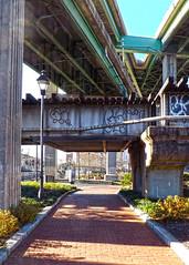 Rails, Trails and Highways (r.w.dawson) Tags: park virginia richmond trail walkway va highways shockoebottom overpasses canalwalk flyways