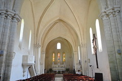Nef de l'église, ancienne abbaye Saint Maurice (XIIe, XIIIe), Blasimon, Entre-Deux-Mers, Guyenne, Gironde, Aquitaine, France. (byb64) Tags: france church abbey frankreich europa europe nef roman 33 iglesia kirche eu chiesa monastery nave igreja romanesque 12th 13th francia église middleages monasterio romanic kloster monastère ue medioevo romanico mosteiro abbaye abbazia moyenage aquitaine romanesqueart abadia gironde aquitania xiie abtei igrexa entredeuxmers xiiie blasimon edadmedia guiana artroman akitania gironda aquitanien guyenne guienne blasimont guyena guienna