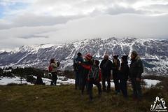 Luca illustra le cime della Majella viste dalla Valle Giumentina - Abruzzo - Italy