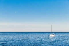 Sail and Moon (If not NOW... when?) Tags: city travel light sea canon europe euro slovenia piran 5d3 5diii