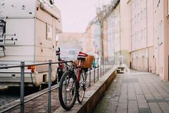 How do you prefer to travel?:) (freyavev) Tags: street urban bike bicycle buildings germany bayern deutschland bavaria basket nuremberg transport caravan nürnberg wohnwagen